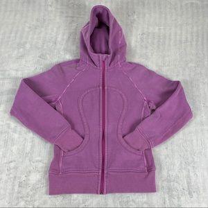 Lululemon Scuba Hoodie Size 6 Pink Purple Heavy Zip Front Jacket
